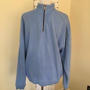 Tommy Bahama Quarter Zip Pullover Blue L